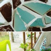 DIY : Recycler les pots cassés en mosaïque
