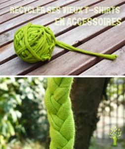 recycler ses vieux t shirts en accessoires eco createurs. Black Bedroom Furniture Sets. Home Design Ideas