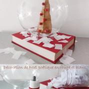 DIY : décoration de Noël poétique en rouge et blanc