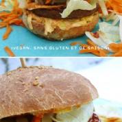 Recette : Hamburger et son pain maison (vegan, sans gluten et de saison)