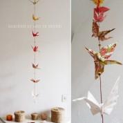 DIY : guirlande de grues en origami