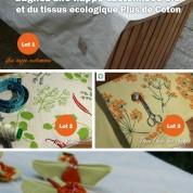 Concours : gagnez une nappe customisée bio et du tissu écologique Plus de Coton