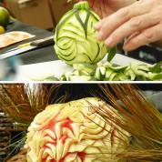 Frédéric Jaunau, sculpteur sur fruits et légumes