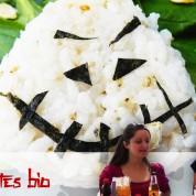 Recette : onigiri – sauce de salade japonaise – dessert au tapioca (vegan, sans gluten)