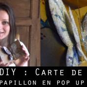 DIY : Carte de voeux papillon en pop up récup'