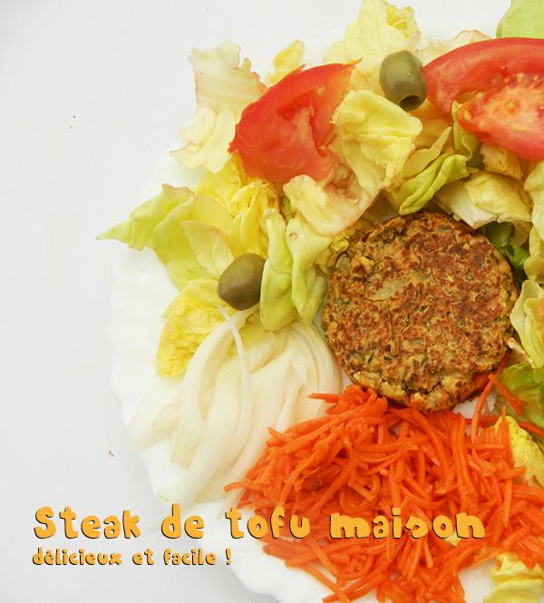 Recette : steak de tofu maison