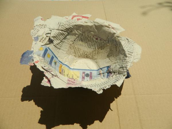 DIY  comment faire un bol en papier mâché