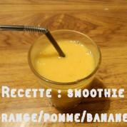Recette : smoothie orange/pomme/banane