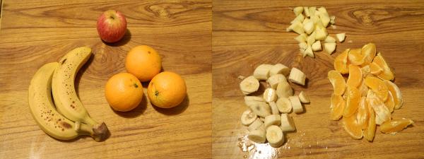Recette  smoothie orangepommebanane