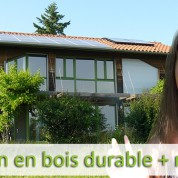 Maison en bois durable + news