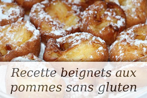 beignets aux pommes sans gluten