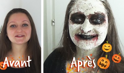 Tuto : maquillage d'halloween naturel et maison