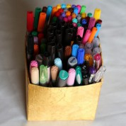 Tuto pot à crayon de Noël