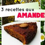 Recette : lait d'amandes, crème végétale, gâteau aux amandes