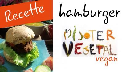 Hamburger vegan au faux poulet